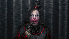 Gun Gag (3rd-Rate Photography) Tags: clown gun suicide makeup creepy scary horro facepaint portrait selfportrait canon 50mm 5dmarkiii flash jacksonville florida 3rdratephotography earlware