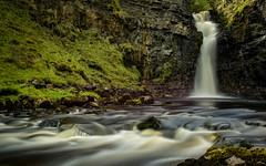 Waterfall on Lealt River. (cliveg004) Tags: skye isleofskye waterfall totternish lealt lealtriver tote invertote scotland highlands le longexposure river blur rocks cliffs