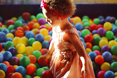 Duda's 2nd Bday (TheJennire) Tags: photography fotografia foto photo canon camera camara colours colores cores light luz young tumblr indie teen hair curls people girl babygirl happybirthday birthday dress pastel ballpool sunlight naturallight baby