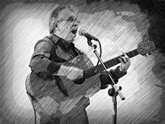 Un da Roda (Franco DAlbao) Tags: francodalbao dalbao lumix msico musician aroda teis vigo guitarra guitar cancintabernaria galego gallego galician efecto efect lpiz pencil grupo group cantante singer
