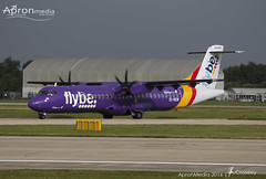 EI- REM | Flybe | ATR 72 (Andy Crossley - Apronmedia.com) Tags: aviation wing symbol vector design fly icon vintage sign airplane retro illustration graphic air emblem flight isolated plane silhouette banner insignia aircraft badge element old logo propeller jet stamp shape sticker label travel business shield abstract sky concept art set transport pilot eagle speed seal vehicle star modern adventure engine stobart atr eirem manchester apronmedia crossley flybe