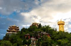 Shangri la Temple (Saw NaJah) Tags: china chinese travel shangrila temple nepal asia sky hope light blue culture trust riligion