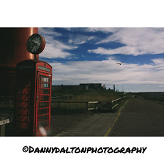 Telephone booth, NL (Danny's photography 2016) Tags: ijmuiden holland netherlands sky clouds nature lighthouse