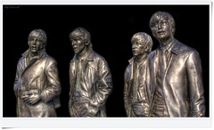 The Beatles (Billy McDonald) Tags: hdr thebeatles statues liverpool glow sculptures