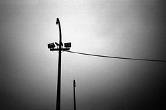 observer 3 (Some More Sundays) Tags: sureal silence blackwhite schwarzweiss analog analogue filmphotography push ilfordhp5 kodakhc110 minoltaxd7 olympusxa2 rodinal 35mm