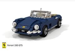 Ferrari 330 GTS Spider (lego911) Tags: ferrari 330 gts 1966 1960s classic v12 spider convertible auto car moc model miniland lego lego911 ldd render cad povray lugnuts challenge 108 9th birthday lugnutsturnsnine turns nine 45 everythingunderthesun everything under sun italy italian sports sportscar foitsop