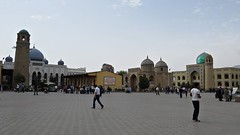 View from Bazaar of Masjidi Jami mosque and medrese (h0n3yb33z) Tags: tajikistan khujand silkroad