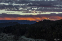 ...mountains on fire  (D.Sinkute) Tags: sunrise cow sky clouds morning nature photography