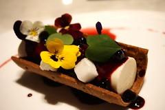 Hucklebefry Cheesecake Tart at Nomi (deeeelish) Tags: cheesecake tart dessert huckleberry ricotta