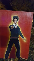 Olsen in the Harry Potter headhole thing (Aggiewelshes) Tags: october 2016 phone s6 olsen headhole pumpkinwalk halloween