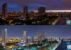 Nublado Despejado Nocturno (javier_carras) Tags: pentax panoramic k3 night citylights skyline colors tungsten park horizon pentaxsmc beautiful santiago chile cityscape sunset