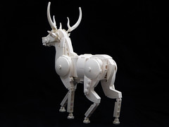Stag sculpture (Magma guy) Tags: lego stag sculpture animal white monochrome harry potter expecto patronum december happy merry christmas rudolf rudolph what