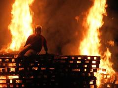 Matilda who told lies (Hilaire Belloc 1870) (cityspottermus) Tags: hilaire belloc bonfire fire death guyfawkes november 5thnovember flames bonfirenight pallets guy crates poems 1870 matilda lies girl liarliar