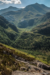 Glen Nevis from southern flank of Ben Nevis. Rivers, gorges, waterfalls and mountains. (Scotland by NJC.) Tags: mountains hills highlands peaks fells massif pinnacle ben munro heights جَبَلٌ montanha 山 planina hora bjerg berg montaña vuori montagne βουνό montagna fjell gorge valley ravine canyon chasm desfiladeiro 峡谷 garganta schlucht gola 협곡 waterfall cascade cataract weir force falls شَلَّال cachoeira 瀑布 vodopad vandfald waterval cascada vesiputous καταρράκτησ cascata 滝 폭포 foss wodospad cascadă водопад trees foliage vegetation arboretum شَجَرَة árvore 树 drvo strom træ boom árbol puu arbre
