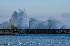 Attitude (trinaclifford) Tags: lakes lakeerie piers water 716 landscapes landscapecaptures landscapephotography naturalwonders naturalbeauty ngc nature naturelover waves nikond7000