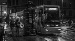 Tramspotting (Henka69) Tags: street streetphoto publictransportation oslo tram trikk night motion movement