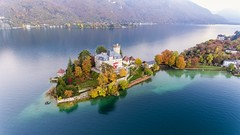 Paradise itself (Perez Alonso Photography) Tags: phantom dji landscapes city lake mountains frenchalps france phantom4