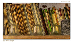 The book shelf (Lady Ann 2010) Tags: ladyann2016 canondigitalixus80is westdean westsussex bookshelf books pamphlets garden gardendesigner cloches england uk