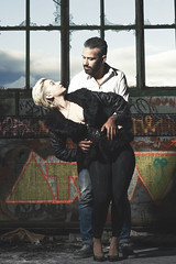 Couple (..norm../www.aucoindeloeil.fr) Tags: sexy girl couple men duo duel black white blackwhite studio light wwwaucoindeloeilfr portrait colse dance danse dust