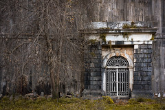 (aesrth) Tags: wall gate door tree dead dam river leaf leaves green grass rust decay white moss nature architecture texture bricks grey gray istanbul turkey branches