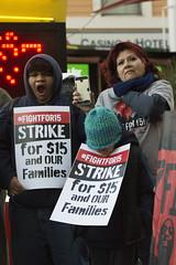 Fight for $15 demonstrations in Las Vegas, morning (FreezeTimeDigital) Tags: lasvegas nv usa mcdonalds fightfor15 thestrip protest demonstration minimumwage