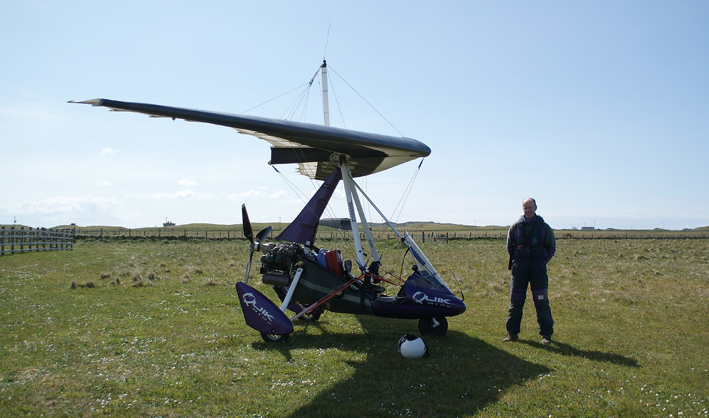 Me and my microlight at Coll airfield