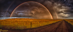 Insignificent Me (southern_skies) Tags: storm clouds rainbow afternoon goldenlight