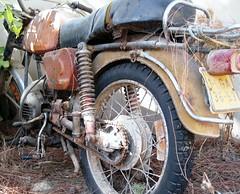 going nowhere (terry.1953) Tags: portugal bike faro motorbike motorcycle algarve wreck ferragudo mygearandme ringexcellence