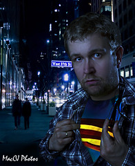 Superman in NYC (CJsarp) Tags: nyc norway canon norge hilton norwegen ps superman 5d akershus noreg supermanreturns ullensaker klfta canon1740 orangegel supermann wirelesstrigger shootthroughumbrella 580exii 430exii cactusv4 5dmki canon5dmk1 5dclassic hhnelgigatpro