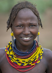 Dassanech Teenage Girl Wearing Beaded Necklaces Omo Valley Ethiopia (Eric Lafforgue) Tags: africa portrait people haircut smile vertical necklace artistic picture tribal ornament photograph blackpeople omovalley bodypainting ethiopia tribe hairstyle rite frontview adornment colorphoto pigments nomadic eastafrica 9005 onepersononly humanface 1819years lookingatcamera 1617years teenagersonly oneteenagegirlonly omorate indigenousculture geleb snnpr southernethiopia nomadicpeople truepeople exterioroutdoors omotic southernnationsnationalitiesandpeoplesregion blackethnicity peoplesoftheomovalley dassanechdaasanachdaasanechdassanachdassanetchmerille ethio9005 ethiopianomovalley abyssiniahornofafrica