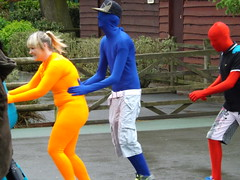 Do the Morph Conga (CoasterMadMatt) Tags: park uk greatbritain costumes england english out season photography spring day photos unitedkingdom britain great may tourist photographs madness gb record conga theme amusementpark british manor morph staffordshire attempt themepark touristattraction attraction attractions 2012 dayout midlands drayton morphs staffs draytonmanor themidlands draytonmanorpark fazeley draytonbassett morphsuit coastermadmatt suitmorphsuiteventworld morphsuitmadness