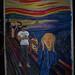 The Scream (camel) 2, street art by the Hotstepper, street art parody of Edvard Much the Scream Kim Kardashian camel toe