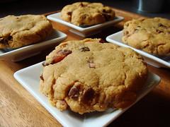 Bacon Peanut Butter Cookies (ComeUndone) Tags: breakfast dessert baking bacon cookie egg sugar brownsugar peanutbutter glutenfree bakingsoda joythebaker