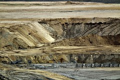 Brown coal mining (gertipetersen -is like a flashlight ....on...off..) Tags: color sand mine earth soil level mijn zand kleur aarde browncoal afgraving bruinkool picmonkey kraftwerkenbruinkoolafgraving clearness100