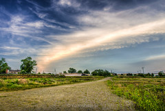 One Road, One Cloud (Yuanshuai(TIM) Si) Tags: road city sunset cloud nature way lens landscape photography one view angle forrest pentax si cleveland wide valley da independence  smc  limit  hdr k5 cityedge    15mmf4 yuanshuai   pentaxart dashuai