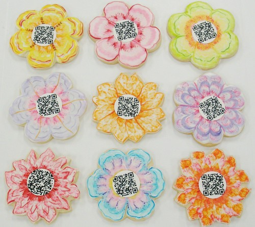 [Image from Flickr]:QR Code Cookie Flowers