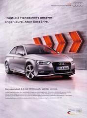 Audi A3 (2012) 8V Handschrift NEU (H2O74) Tags: auto new red rot silver ads advertising grey gris automobile publicidad metallic touch ad grau voiture advertisement anncio plata a3 nouveau audi werbung advance brand der  publicit modell argent nuevo reklame neu neue flechas avance voitures 2012 publicitario neues anzeige silber mmi pfeile in manuscrito wagen automobil 8v pkw manuscrit handschrift  kfz vorsprungdurchtechnik 3001   a kraftfahrzeug flches ingenieure werbungen   brandneu voraus   vehhicle intuitiver
