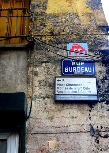 Space invader in Lyon