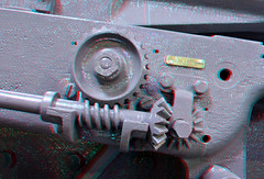 detail L1 Howitzer 3D (wim hoppenbrouwers) Tags: uk 3d utrecht gun anaglyph cannon adjustment howitzer redcyan railwaygun 460mm spoorwegmuseumutrecht railwayartillery detaill1howitzer