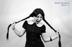 Eleanna as Addams Family Girl at Komix Cosplay Photoshooting (SpirosK photography (back!)) Tags: portrait girl movie costume cafe photoshoot cosplay athens greece addamsfamily costumeplay  komix eleanna  thegeeks chercherlafemme  neoirakleio