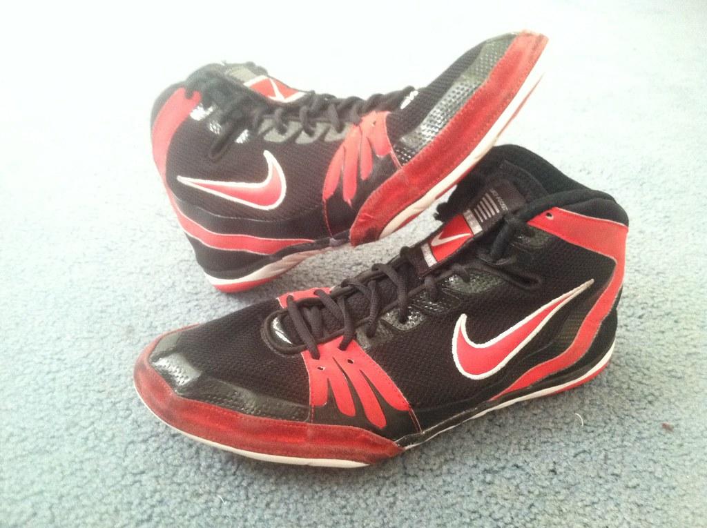 Nike Blue Oe Wrestling Shoes