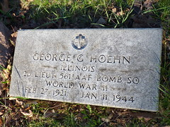 WWII bomber pilot (yooperann) Tags: world 2 two george memorial war day vet graves ii marker soldiers killed veteran bomber tombstones pilot hoehn