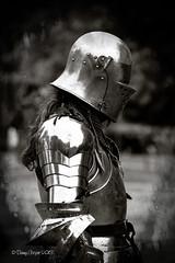 A Knight on acid (burn). (Bambi_72) Tags: photoshop blackwhite acid armor knight medievalday platemail