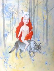 Mädchen und der Wolf