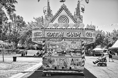 DSCF6809 (RHMImages) Tags: blackandwhite bw sign fuji fair cottoncandy fujifilm countyfair contracostacounty x100s