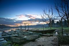 Boats of Tamblingan (Tirta Winata) Tags: bali lake sunrise temple dawn boat pura danau bedugul munduk gobleg tamblingan