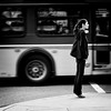 Ready to fly (. Jianwei .) Tags: street urban bus girl vancouver mood candid wait tiptoe a55 jianwei kemily
