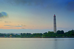 Monumental Repairs (Reg|Photography4Lyfe) Tags: tower monument water architecture reflections skyscape landscape photography washingtondc dc washington dusk structure basin washingtonmonument dmv tidal hdr tidalbasin 2013