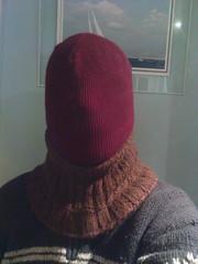 DSC00734 (Oompah1) Tags: wool fetish sweater bondage mohair hood jumper balaclava enclosure