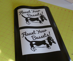 Flaunt Your Bassets (made by mauk) Tags: dog vinyl hound basset decals madebymauk maukrulz